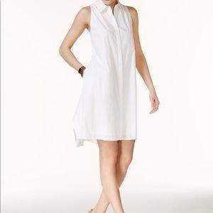 {ALFANI} White Collared Shirtdress Size 12!